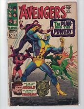 The Avengers #42 [July 1967] Great Roy Thomas & John Buscema! [GD-FN]
