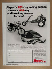 1973 Alsport Tri-Sport Steen Motorcycle & Boa-Ski Snowmobile vintage print Ad