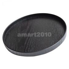 Japanese Wooden Serving Tray Plate Tea Food Platter Home Decor Black 30cm