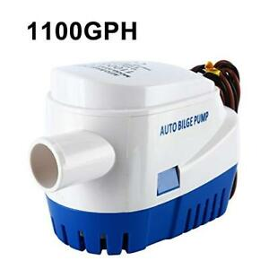 12V 1100GPH Marine Boat Automatic Bilge Water Pump RV Auto Submersible Pump US
