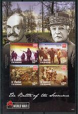 ST. Vincent & GRENADINES 2015 Gomma integra, non linguellato WWI battaglia della Somme 4v MS II PRIMA GUERRA MONDIALE FRANCOBOLLI