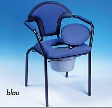 Russka Toilettenstuhl Standard modern WC Stuhl blau