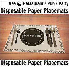 25 X A3 Disposable Paper Place mats Place Mats Dining Table Placemats Catering