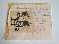 A Really Unusual Beatles Collectable. Featuring Lennon And McCartney. From 1964