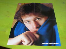 SIMPLE MINDS - VINTAGE FRENCH PROMO BIO/POSTER !!!!!!!!!!!!!!!!!!!!!!!