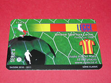 RARE FOOTBALL CARD FOOT2PASS 2010-2011 US LECCE ITALIA CALCIO SERIE A