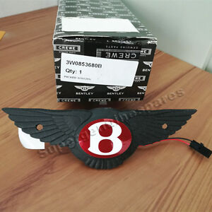 Genuine Bentley Continental GT Rear Boot Switch Wings Red Badge 3W0853680B New
