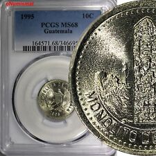 Guatemala 1995 10 Centavos PCGS  MS68 TOP GRADED BY NGC GEM BU KM# 277.6