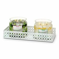 Partylite White Pierced Double Jar Holder-P92783