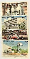 St. Vincent #639-642 MNH Specimen CV$3.50 Sugar Industry