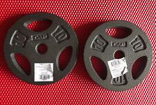 """🔥(2) CAP 1"""" 10 lbs pounds STANDARD Weight Plates Grip Barbell"""