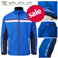 Stuburt Torrent Waterproof Golf Jacket Men's Full-Zip - Imperial Blue NEW! 2020