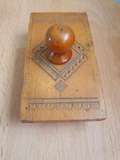 Vintage Wooden Rocking Ink Blotter USSR
