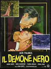 CINEMA-fotobusta IL DEMONE NERO j. palance, D. CURTIS