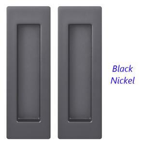 2Pcs Flush Recessed Pocket Sliding Door & Cabinet Rectangular Pull Handles