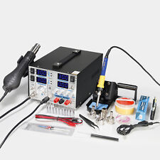 YH-853D+ 5A MULTI 3 IN 1 SOLDERING IRON & HOT AIR  STATION & DC POWER SUPPLY 30V