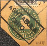 Scott #U379 US 1903 1 Cent Franklin Envelope Stamp