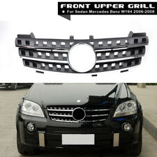 3 Fin Front Hood Black Chrome Grill Grille for Mercedes ML Class W164 2005-2008