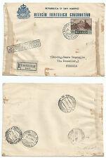 SAN MARINO 1951 FDC VEDUTA PA LIRE 500
