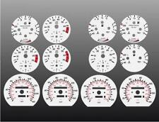 1984-1993 Mercedes Benz w126 Dash Cluster White Face Gauges 84-93