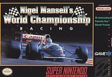 Nigel Mansell's World Championship Racing (Super Nintendo) Game Only