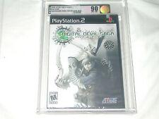 NEW Shin Megami Tensei Digital Devil Saga Playstation 2 VGA 90 NM+/MT GOLD PS2