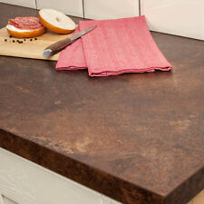 Copper Effect Worktop, Laminate Square Edge 3000 x 900 x 40mm, Industrial Style