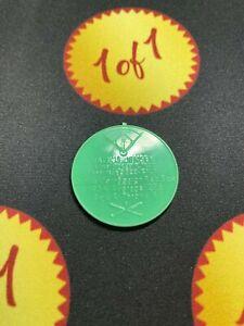 1960 Armour Hot Dog Coin Jackie Jensen Green Boston Reb Sox (Error) GF3