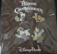 Disney's Pirates of the Caribbean- Mickey and Friends- 4 Pins- New and Sealed