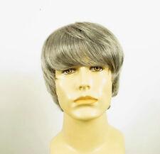 Perruque homme 100% cheveux naturel grise poivre et sel EMILE 44