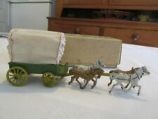 VINTAGE TOY COVERD WAGON  Made in ENGLAND