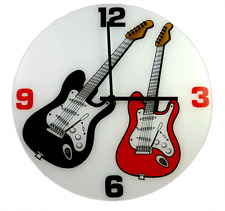 Electric Guitar Wall Clock - Music Gift - Music Clock - Gift for Musician
