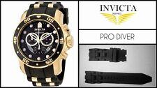 Black Silicone Rubber Watch Band Strap For Invicta PRO DIVER SCUBA