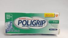 Poligrip Super Strong All-Day Hold Denture Adhesive Cream, 0.75 oz