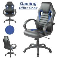 Executive Office Chair Sports Racing Gaming Swivel Leather Computer Desk Chair