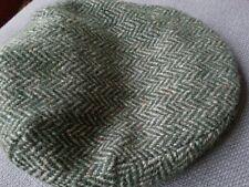 Vintage Hat Newsboy Newsie Hanna Hats Wool Green and Grey Hipster Ireland Irish