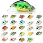 5Color 1/4inch 1/2oz Crankbait Fishing Lures Bait Shallow Water For Bass Fishing