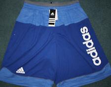 NWT Mens Adidas L Blue/Light Blue/Gray/White Future Star Shorts Large