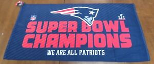 "New England Patriots Super Bowl LI 51 Champions 22"" x 42"" Locker Room Towel"