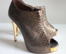 DUNE GLAM SHOE BOOTS Brown Bronze Stiletto Occasion Booties UK 3