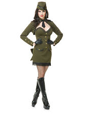 Green Us Army Uniform Sergeant Sassy Adult Womens Costume - Small
