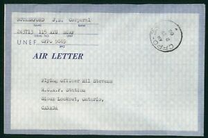 Mayfairstamps Canada 1966 UNEF CFPO to RCAF Station Sioux Lookout Cover wwp_6384