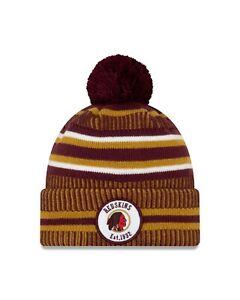 Washington Redskins New Era 2019 Home Historic Sport Knit On-Field Pom Knit Hat