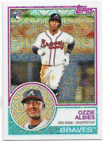 2018 Topps Silver Pack Chrome 35th Anniversary Refractor Ozzie Albies RC Braves