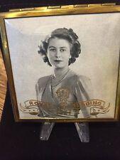 Vintage Powder Compact Queen Elizabeth Wedding Day Nov.29th 1947 Marriage Royals