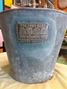 Vintage Four Oaks Galvanised Sprayer Bucket And Brass Pump farmers de luxe