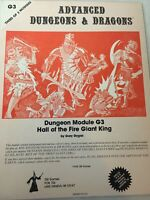 AD&D Dungeon Module G3 Hall Of The Fire Giant King Dungeons & Dragons 1978