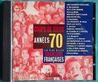 CD LES PLUS BELLES CHANSONS FRANÇAISES ANNÉES 70 Ref 0791