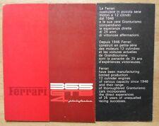 FERRARI 365 GTB/4 PININFARINA original 1971 Daytona Sales Brochure - #49/71