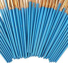 50X Miniature Paint Brush Set Professional Sable Hair Fine Detail Art Nail Model